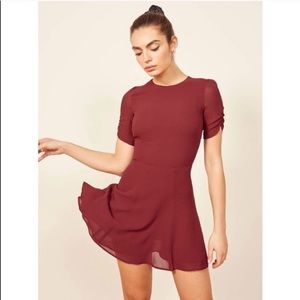 Reformation Gracie Mini Dress in Red